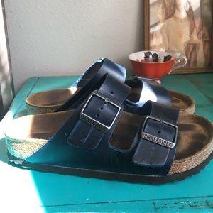 Birkenstock Arizona blue oiled leather Birks